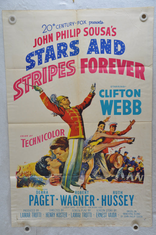 1952 Stars and Stripes Forever Original 1SH Movie Poster Clifton Webb   - TvMovieCards.com