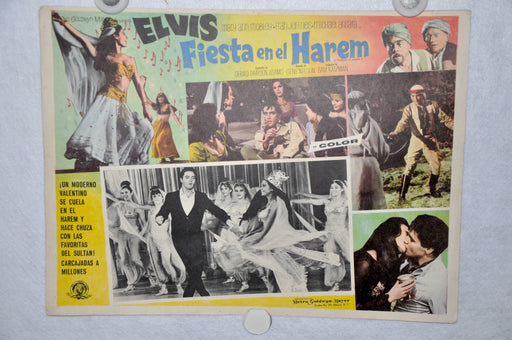 Harum Scarum 1965 Mexican Lobby Card Movie Poster Elvis Presley #4   - TvMovieCards.com