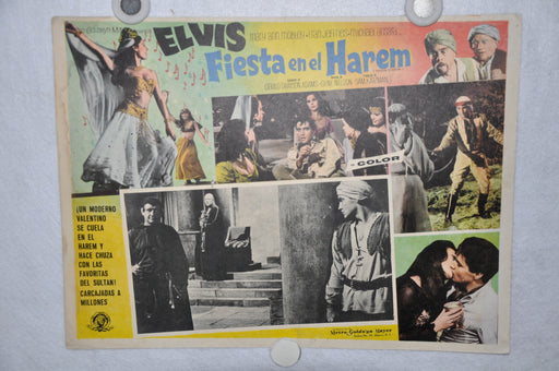 Harum Scarum 1965 Mexican Lobby Card Movie Poster Elvis Presley #5   - TvMovieCards.com