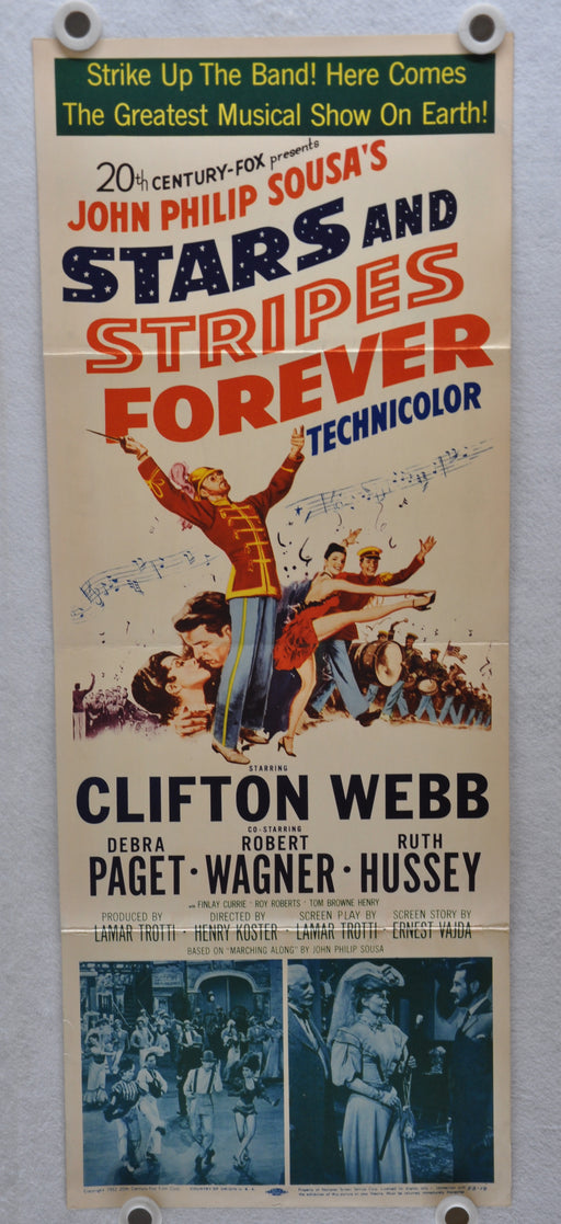 1952 Stars and Stripes Forever Original Insert Movie Poster Clifton Webb   - TvMovieCards.com