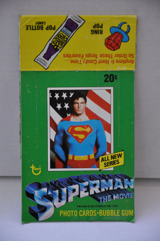 1978 Superman The Movie Series 2 Empty Bubble Gum Vintage Trading Card Box   - TvMovieCards.com
