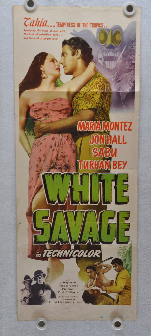 1943 White Savage Original Insert Movie Poster Maria Montez, Jon Hall, Sabu   - TvMovieCards.com