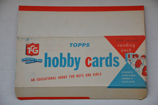 1959 Topps Hobby Cards Fabian Empty 500 Count Vending Vintage Trading Card Box   - TvMovieCards.com