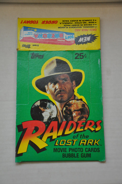 1981 Indiana Jones Raiders of the Lost Ark Empty Gum Vintage Trading Card Box   - TvMovieCards.com