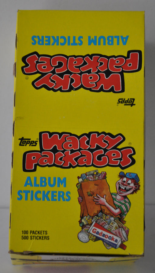 1986 Wacky Packages Album Stickers Empty Bubble Gum Vintage Trading Card Box   - TvMovieCards.com