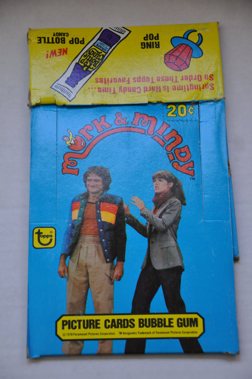 1978 Mork & Mindy Empty Topps Bubble Gum Vintage Trading Card Box   - TvMovieCards.com