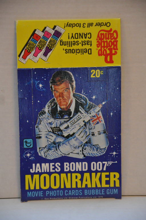 1979 James Bond Moonraker Empty Bubble Gum Vintage Trading Card Box Roger Moore   - TvMovieCards.com