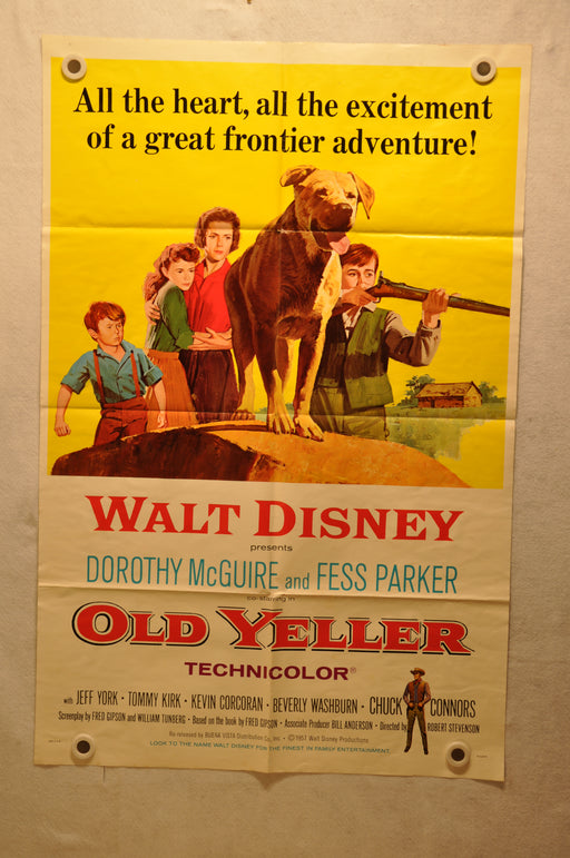 Old Yeller Original 1SH Movie Poster Re-release 1974 27 x 41 Disney   - TvMovieCards.com