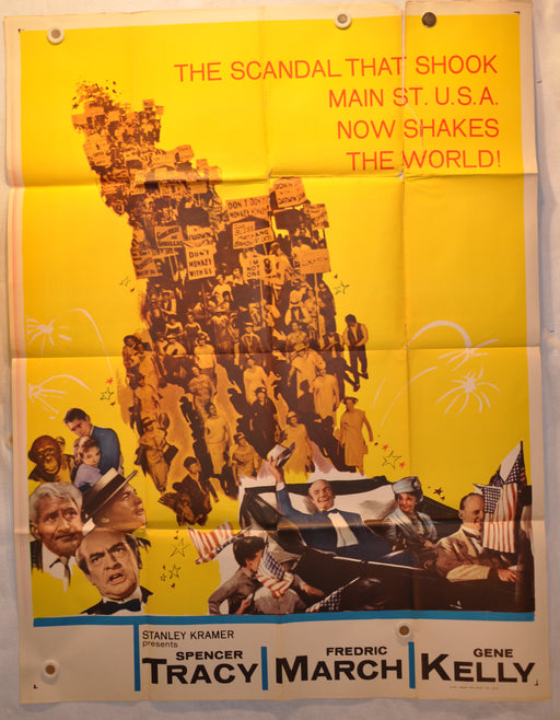 "1960 Inherit The Wind Original 3SH 3 Sheet Movie Poster 41"" x 54"" Spencer Tracy   - TvMovieCards.com"
