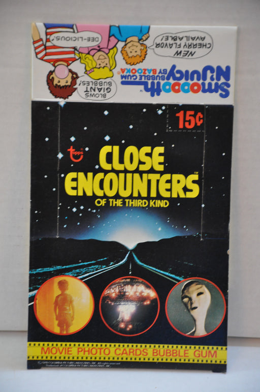 1978 Close Encounters Third Kind Empty Bubble Gum Vintage Trading Card Box   - TvMovieCards.com