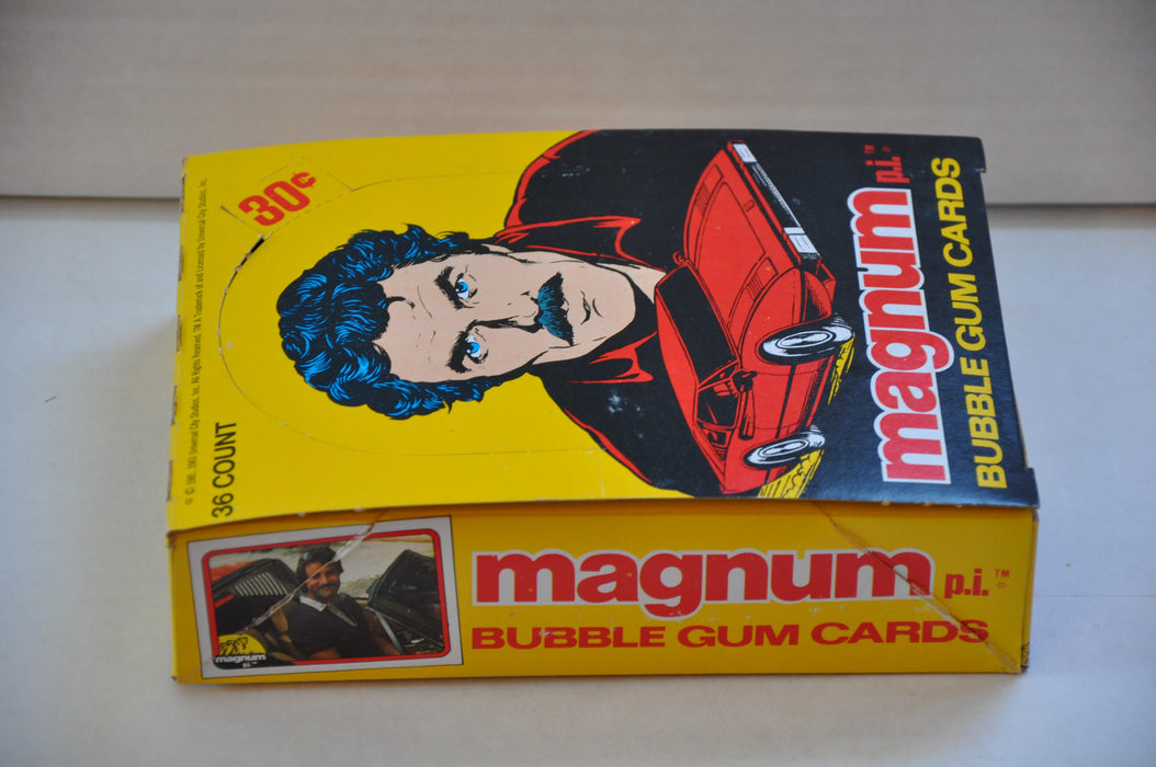 1983 Donruss Magnum P.I. Empty Bubble Gum Vintage Trading Card Box   - TvMovieCards.com
