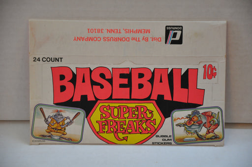 1973 Donruss Baseball Super Freaks Empty Bubble Gum Vintage Trading Card Box   - TvMovieCards.com