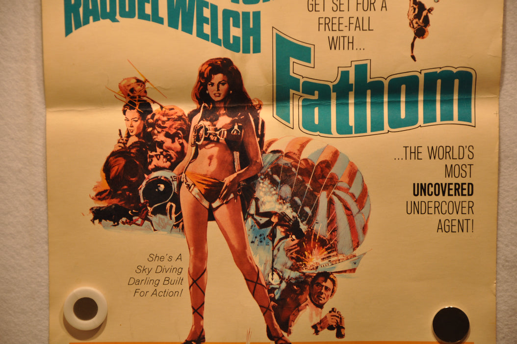 "1967 Fathom Original Window Card Insert Movie Poster ""14 x 22"" Raquel Welch   - TvMovieCards.com"