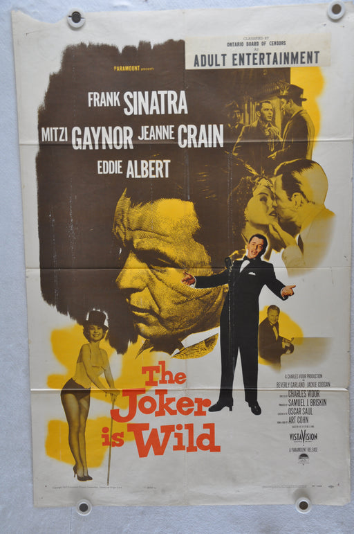1957 The Joker is Wild Original 1SH Movie Poster Frank Sinatra Mitzi Gaynor   - TvMovieCards.com