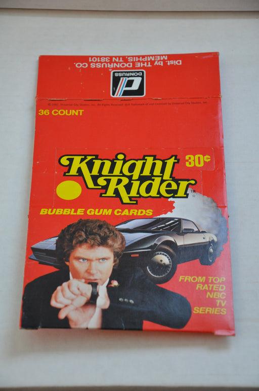 1982 Donruss Knight Rider Empty Bubble Gum Vintage Trading Card Box   - TvMovieCards.com