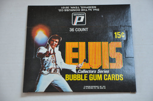 1979 Donruss Elvis Presley Empty Bubble Gum Vintage Trading Card Box   - TvMovieCards.com