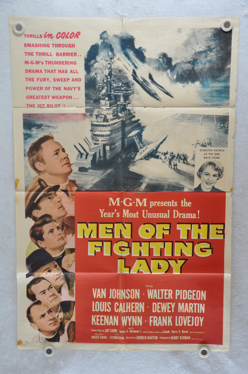 1954 Men of the Fighting Lady Original 1SH Movie Poster Van Johnson 27 x 41   - TvMovieCards.com