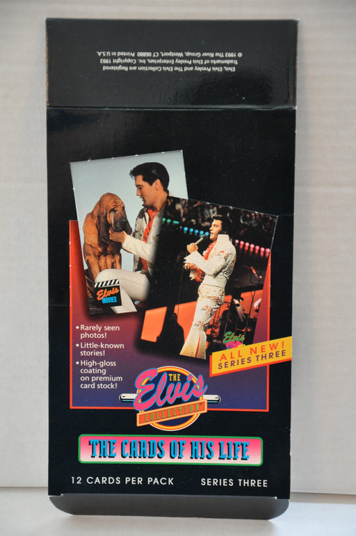 Elvis Presley Series Three 1992 River Group Empty Trading Card Box   - TvMovieCards.com