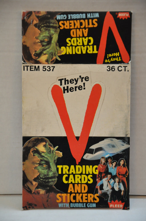 1984 Fleer They're Here V Empty Bubble Gum Vintage Trading Card Box   - TvMovieCards.com