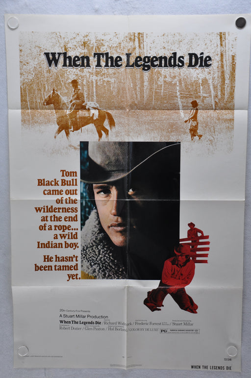 1972 When the Legend Dies Original 1SH Movie Poster 27 x 41 Richard Widmark   - TvMovieCards.com