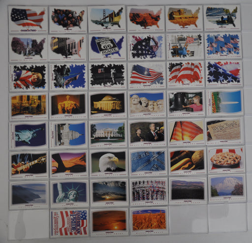 2001 American Pride Sticker Base Card Set of 45 Stickers   - TvMovieCards.com