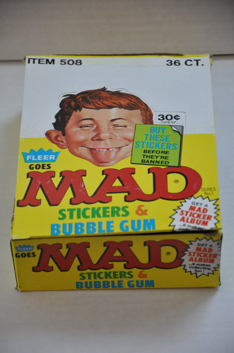 1983 Fleer MAD Magazine Empty Bubble Gum Vintage Trading Card Box   - TvMovieCards.com