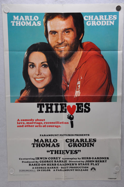 1977 Thieves Original 1SH Movie Poster 27 x 41 Marlo Thomas Charles Grodin   - TvMovieCards.com