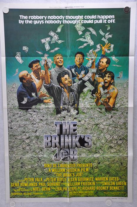 1978 The Brink's Job Original 1SH Movie Poster 27 x 41 Peter Falk Peter Boyle   - TvMovieCards.com