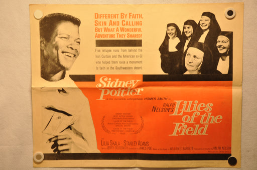 "1963 Lilies of the Field Original Half Sheet Movie Poster ""22 x 28"" Sidney Poitier   - TvMovieCards.com"