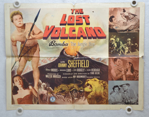 1950 The Lost Volcano Original Half Sheet Movie Poster Johnny Sheffield   - TvMovieCards.com