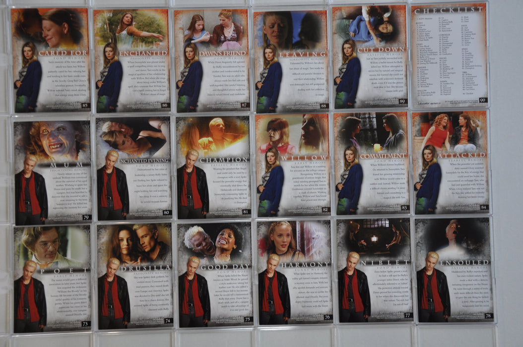 Buffy The Vampire Slayer Memories Trading Base Card Set 90 Cards   - TvMovieCards.com