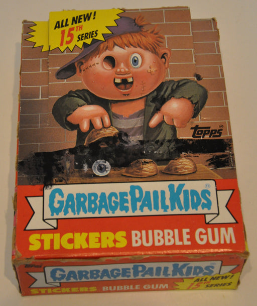 1988 Garbage Pail Kids 15th Series Empty Trading Card Box Topps   - TvMovieCards.com