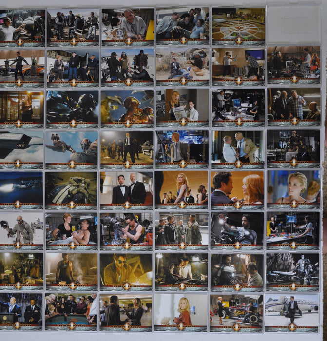 2008 Iron Man Movie Rittenhouse Archives Trading Base Card Set 70 Cards   - TvMovieCards.com