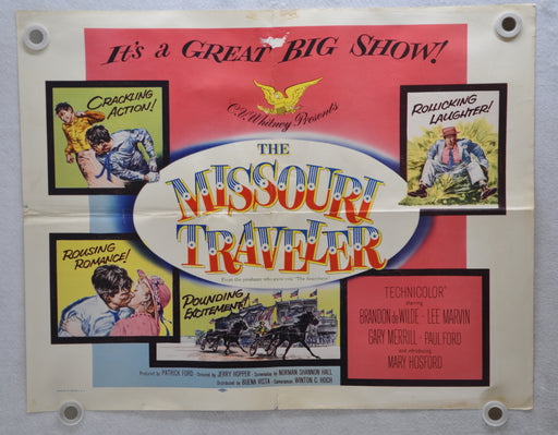 1958 The Missouri Traveller Original Half Sheet Movie Poster Brandon De Wilde   - TvMovieCards.com