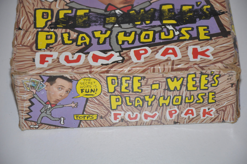 Pee Wee Herman Pee Wee's Playhouse Fun Paks Empty Trading Card Box + Wrappers   - TvMovieCards.com