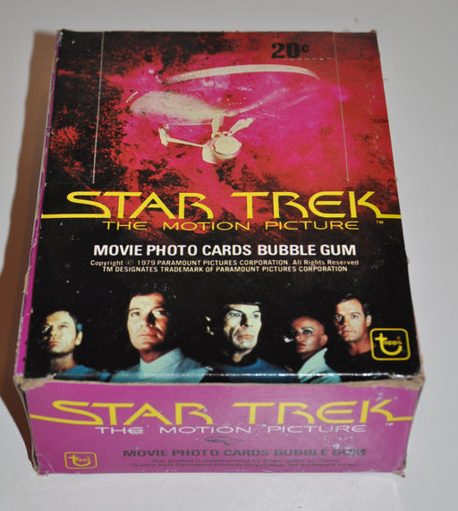 1979 Star Trek The Motion Picture Empty Bubble Gum Vintage Trading Card Box   - TvMovieCards.com