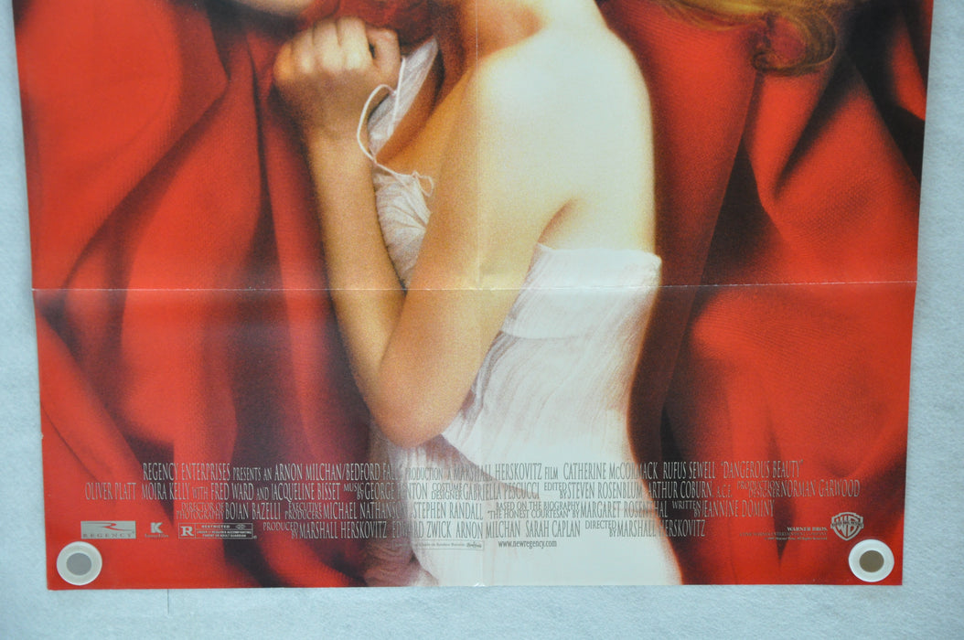 1998 Dangerous Beauty Original 1SH D/S Movie Poster 27 x 41 Catherine McCormack,   - TvMovieCards.com