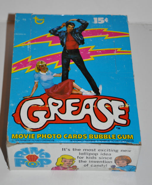 1978 Grease Series 1 Empty Bubble Gum Vintage Trading Card Box   - TvMovieCards.com