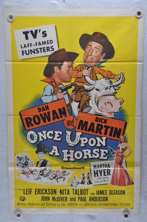 1958 Once Upon A Horse Original 1SH Movie Poster Dan Rowan, Dick Martin   - TvMovieCards.com