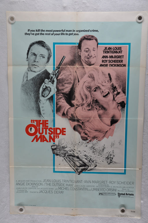 1972 The Outside Man Original 1SH Movie Poster Jean-Louis Trintignant   - TvMovieCards.com