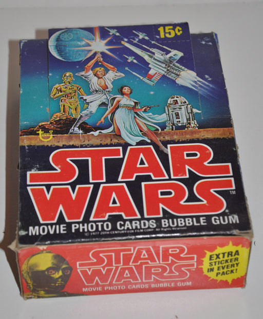 1977 Star Wars Series 1 Empty Bubble Gum Vintage Trading Card Wax Box   - TvMovieCards.com
