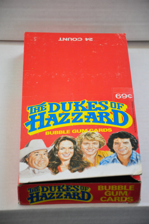 1981 Donruss Dukes of Hazzard 24CT Empty Bubble Gum Vintage Trading Card Box   - TvMovieCards.com