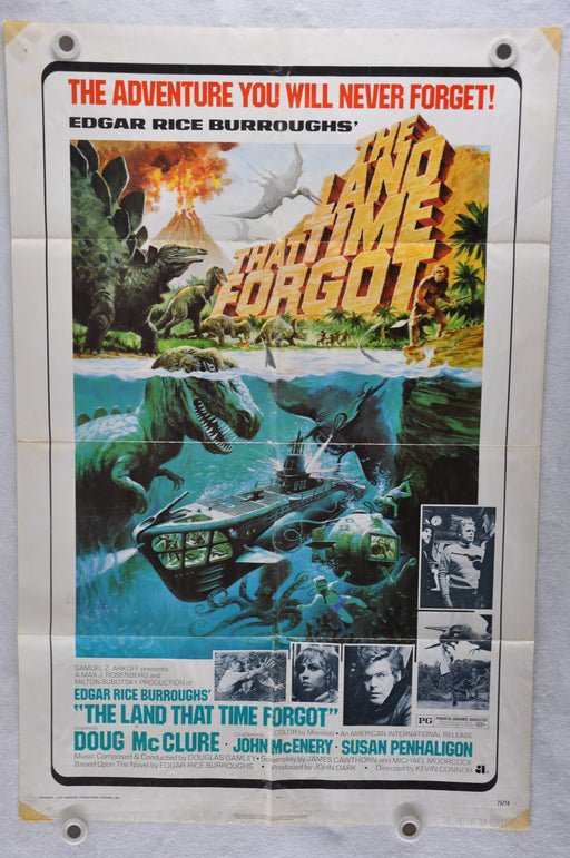 1974 The Land Time Forgot Original 1SH Movie Poster Doug McClure John McEnery   - TvMovieCards.com
