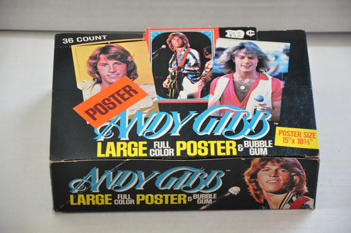 1978 Donruss Andy Gibb Empty Bubble Gum Vintage Trading Card Box Bee Gees   - TvMovieCards.com