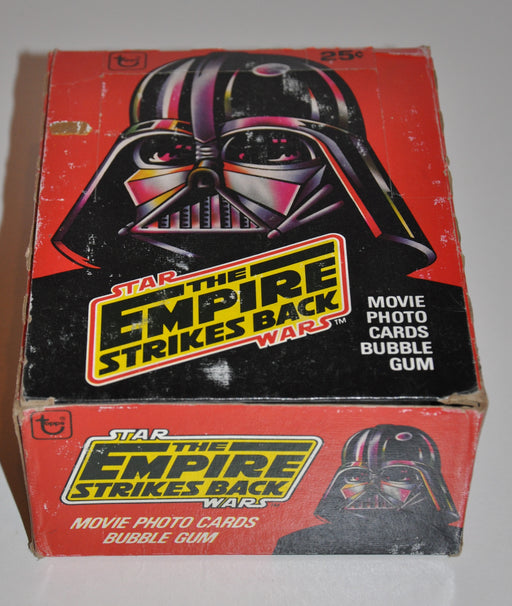 1980 Star Wars Empire Strikes Series 1 Back Empty Vintage Trading Card Wax Box   - TvMovieCards.com