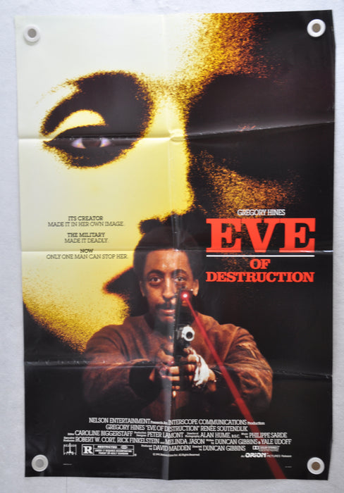 1991 Eve of Destruction Original 1SH D/S Movie Poster 27 x 41 Gregory Hines   - TvMovieCards.com