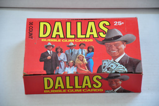 1981 Donruss Dallas Empty Bubble Gum Vintage Trading Card Box   - TvMovieCards.com