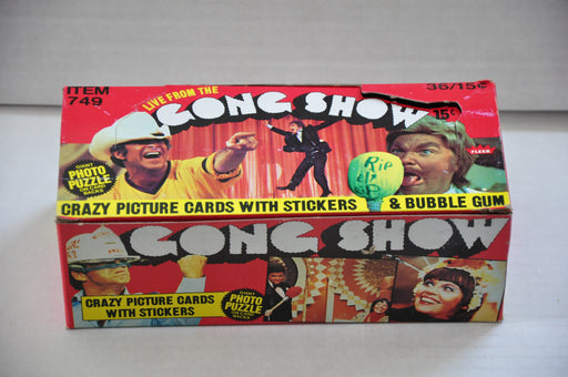 1977 Fleer The Gong Show Empty Bubble Gum Vintage Trading Card Box   - TvMovieCards.com