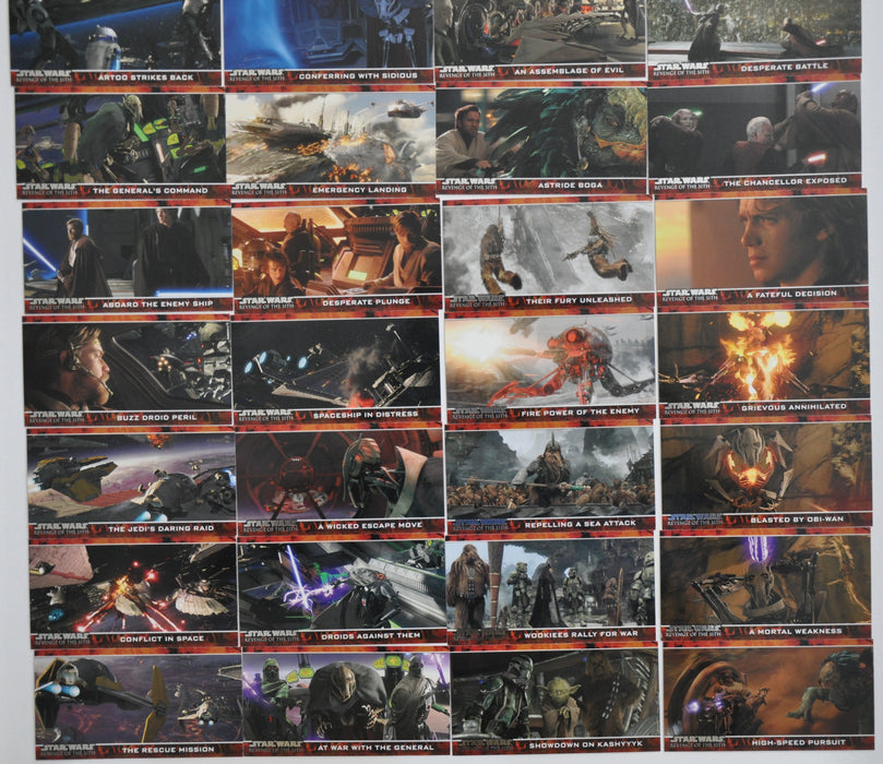 Star Wars Revenge of the Sith Widevision Topps 2005 Trading Base 80 Card Set   - TvMovieCards.com