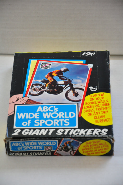 1975 Topps ABC's Wide World of Sports Empty Bubble Gum Vintage Trading Card Box   - TvMovieCards.com